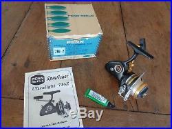 Vintage Penn 716Z Spinfisher Ultra Light Spinning Reel, RH, in box, USA, Ex