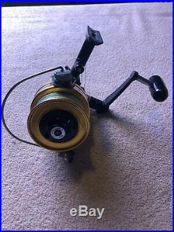 Vintage Penn 750SS Skirted Spool Spinning Reel High Speed 4.61 Black and Gold