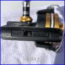 Vintage Penn 750SS skirted spool spinning reel made is U. S. A