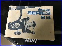 Vintage Penn 750 SS High Speed Spinning Fishing Reel in Original Box