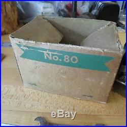 Vintage Penn 80 fishing reel and box (box has damage) c. 1930s (lot#11262)