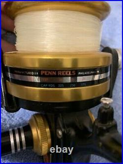 Vintage Penn 850SS USA Spinning Reel With Box, Manual, Lube, RH Pivot Circa 1989