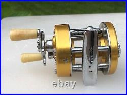 Vintage Penn 910 Levelmatic Baitcasting Fishing Reel Ball Bearings Trolling