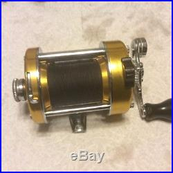 Vintage Penn 930 Levelmatic Fishing Reel Baitcaster Saltwater /Freshwater GOLD