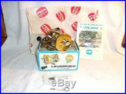 Vintage Penn 940 Levelmatic Bait Casting Reel with Orig Box Lube Paper Wrench NEW