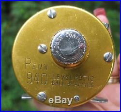 Vintage Penn 940 Levelmatic Ball Bearing Bait Casting Reel