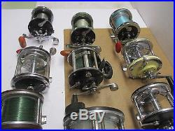 Vintage Penn And More Set Of 10 Reels Parts Or Repair
