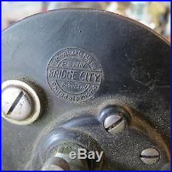 Vintage Penn Bridge City fishing reel made in USA c. 1930s (lot#11260)