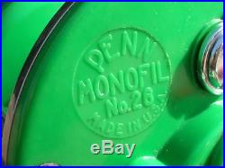 Vintage Penn Fishing Reel1950's PENN MONOFIL 26RARE GREEN Plates/SpoolMINTY