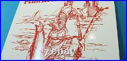Vintage Penn Fishing Reels Porcelain Rapala Tackle Sales Lures Display Sign