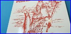 Vintage Penn Fishing Reels Porcelain Rapala Tackle Sales Lures Store Sign