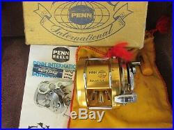 Vintage Penn International 20 Big Game Reel withBag&Box NEAR MINT COND