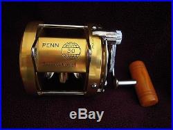 Vintage Penn International 30 Big Game Reel EXEC COND