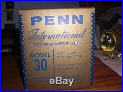 Vintage Penn International 30 Big Game Reel withBox and Paperwork