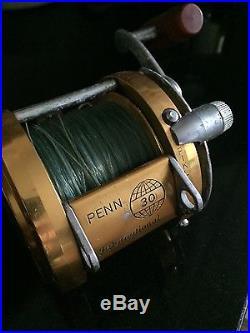 Vintage Penn International 30 Conventional Lever Drag Big Game Fishing Reel USA