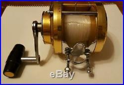 Vintage Penn International 30 Saltwater Big Game Fishing Reel Gold