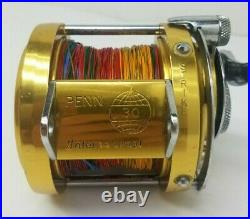 Vintage Penn International 30 Tournament Brass Fishing Reel. USA EXCELLENT