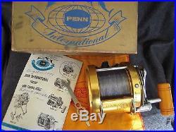 Vintage Penn International 50 Big Game Reel withBox&Bag NEAR MINT COND