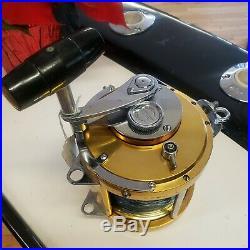 Vintage Penn International 80 Saltwater reel Gold VG Cond