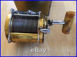 Vintage Penn International 80-W Fishing Reel. Wide Spool, with original box