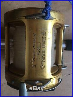 Vintage Penn International 80-W Saltwater Fishing Reel No Reserve