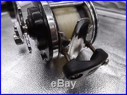 Vintage Penn Jigmaster 505HS High Speed Narrow Spool Fishing Reel with Rod Clamp