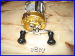 Vintage Penn Levelmatic 940 Baitcasting Reel made in USA with Lead Core Line