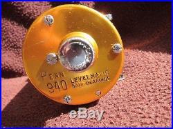 Vintage Penn Levelmatic No. 940 Big Game Bait Casting Reel GOOD COND