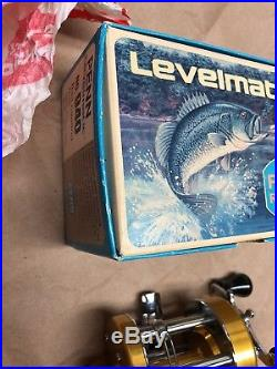 Vintage Penn Levelmatic No. 940 Big Game Bait Casting Reel withBOX MINT NIB NOS