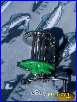 Vintage Penn MONOFIL No. 26 Big Game Reel GREEN Rare- Works Very Smooth