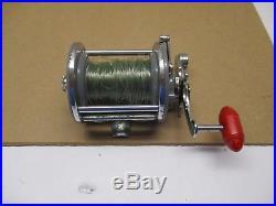Vintage Penn Monofil 25 Gray & gray spool Conventional Fishing Reel Made In USA