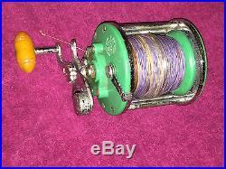 Vintage Penn Monofil 26 Fishing Reel Green PM26A