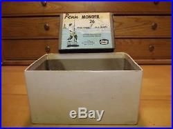 Vintage Penn Monofil 26 Fishing Reel Green PM26 Box and catalog