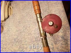 Vintage Penn Monofil 27 Fishing Reel & Rod Combo
