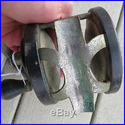 Vintage Penn No. 15 fishing reel made in USA Pat. D original handle (lot#6752)