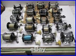 Vintage Penn Ocean City And More Set Of 20 Reels Parts Or Repair