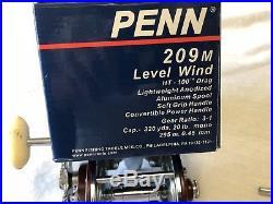 Vintage Penn Peer #209M Level wind Trolling Reel Saltwater Fishing Pole Sport