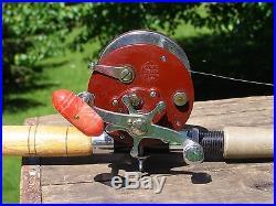 Vintage Penn Peer 209 Fishing Reel with St Croix 1001 NWR 7' 6 Rod Deep Water