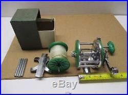 Vintage Penn Reel Monofil 26 Green Narrow With Extras