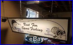 Vintage Penn Reels Hanging Advertising SignDouble SidedRare