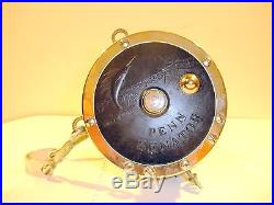 Vintage Penn SENATOR 9/0 Made in USA Pat. D with Harness Clamp Big Game Reel