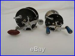 Vintage Penn Salt Water Reel Lot Senator 6/0 Big Game, Peer, Delmar, Made in USA