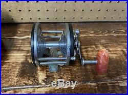 Vintage Penn Seagate Fishing Reel Box And Catalog