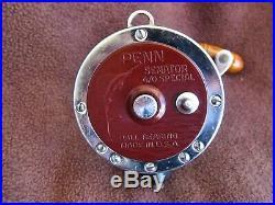 Vintage Penn Senator 113H 4/0 Big Game Conventional Reel EXEC COND! 2