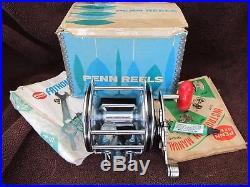 Vintage Penn Senator 113 4/0 Big Game Reel withBOX, Paper, etc. COLLECTIBLE