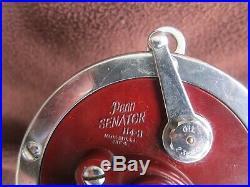 Vintage Penn Senator 114H 6/0 Big Game Reel withBAKELITE Handle & Box GOOD COND