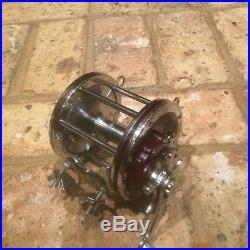 Vintage Penn Senator 114H 6/0 Conventional Reel with Rod Clamp in Box EX -Used
