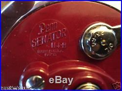 Vintage Penn Senator 114H 6/0 Original Box withReceipt Fishing Reel Saltwater