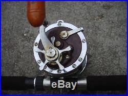 Vintage Penn Senator 114H Fishing Reel-& OCEAN CITY X-HEAVY ACTION 85-1/2