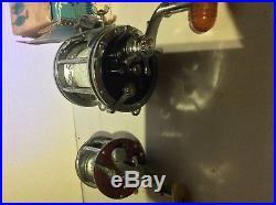 Vintage Penn Senator 114-H Salt Water Fishing Reel with Rod Clamp lot peer 209
